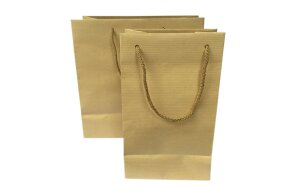 CRAFT RIBBED PAPER BAGS